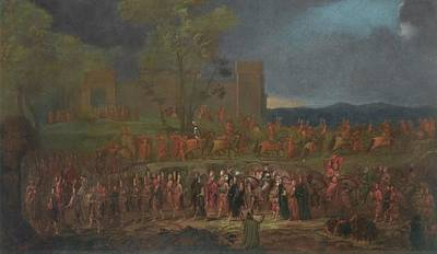 Night Painting - The Procession Of Sultan Ahmed by Jean Baptiste