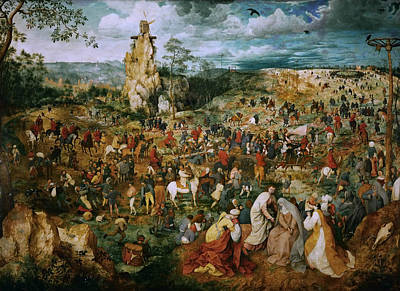 Painting - The Procession To Calvary by Pieter Bruegel the Elder