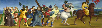 Procession Digital Art - The Procession To Calvary by Raphael