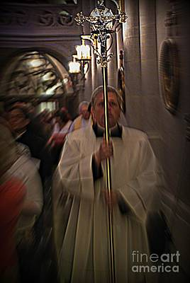 Frank J Casella Royalty-Free and Rights-Managed Images - The Processional Cross by Frank J Casella