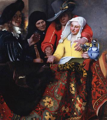 The Procuress 1656 Art Print by Johannes Vermeer