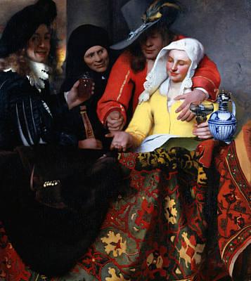 Painting - The Procuress by Jan Vermeer