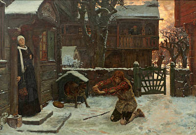 Rosen Painting - The Prodigal Son by Georg von Rosen