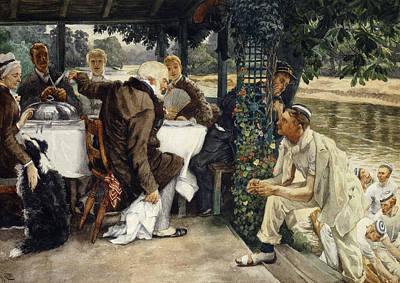 The Prodigal Son In Modern Life  The Fatted Calf Print by James Jacques Joseph Tissot