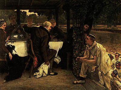 Digital Art - The Prodigal Son The Fatted Calf by James Jacques Joseph Tissot