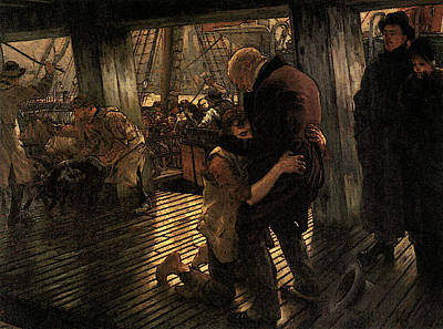 Digital Art - The Prodigal Son The Return by James Jacques Joseph Tissot