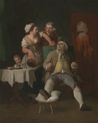 Painting - The Profligate Punished By Neglect by Edward Penny