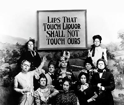 Lips Photograph - The Prohibition Temperance League 1920 by Daniel Hagerman