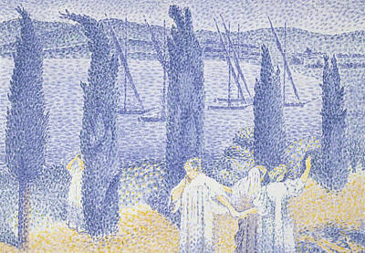 Relief - The Promenade by Henri-Edmond Cross