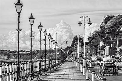 Photograph - The Promenade Penarth Mono by Steve Purnell