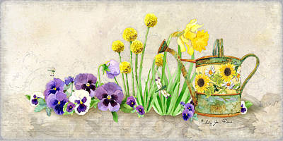 Painting - The Promise Of Spring - Pansy by Audrey Jeanne Roberts