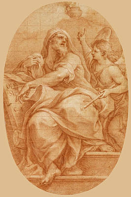 Drawing - The Prophet Jeremiah by Sebastiano Conca