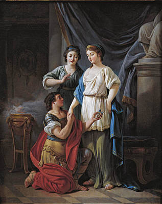 Painting - The Proposal by Jean-Baptiste Huet