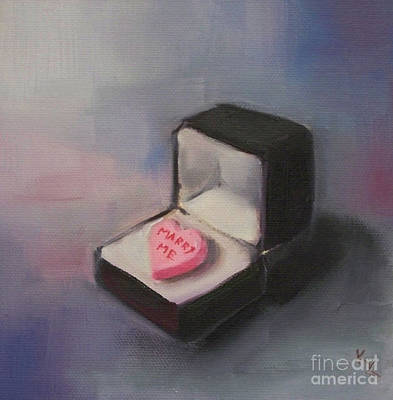 Kristine Painting - The Proposal by Kristine Kainer