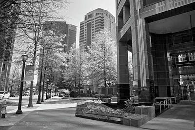 Photograph - The Proscenium In Midtown Atlanta In B And W by Jill Lang