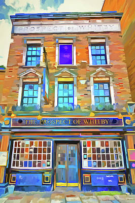 Photograph - The Prospect Of Whitby Pub Pop Art by David Pyatt