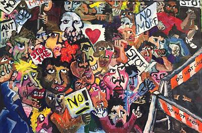 Painting - The Protest  by Jame Hayes
