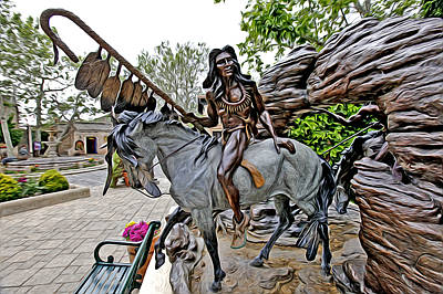Photograph - The Proud Indian  Warrior by James Steele