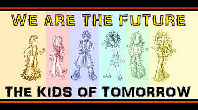 Mixed Media - The Proud Kids Of Tomorrow 1 by Shawn Dall