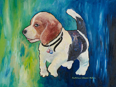 Painting - The Proud Puppy by KLM Kathel