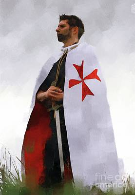 Fantasy Royalty-Free and Rights-Managed Images - The Proud Templar by Pierre Blanchard