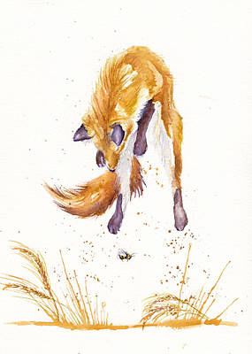 Red Fox Painting - The Provisional Hunter by Debra Hall
