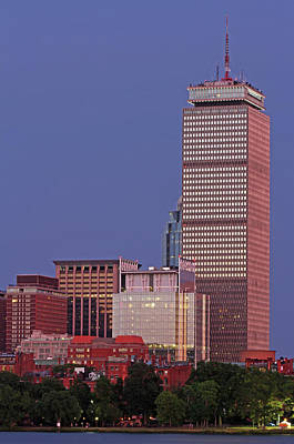 Photograph - The Pru And Prudential Center And Newly Constructed 330 Beacon Street Corporation Building by Juergen Roth