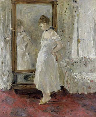 Female Painting - The Psyche Mirror by Berthe Morisot