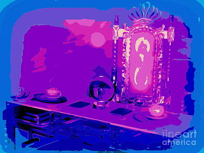 Digital Art - The Psychic's Table by Ed Weidman