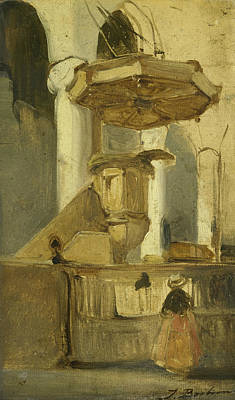 The Pulpit Of The Church In Hoorn Art Print