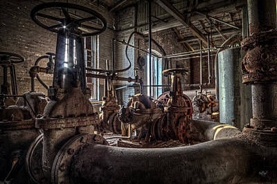 Machinery Photograph - The Pumphouse by Everet Regal