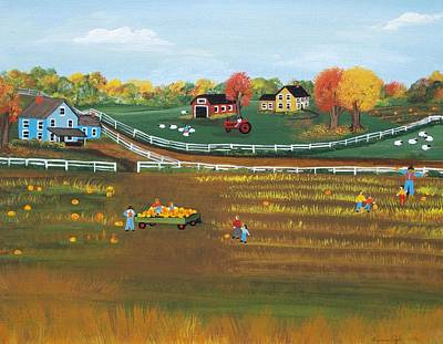 Painting - The Pumpkin Patch by Virginia Coyle