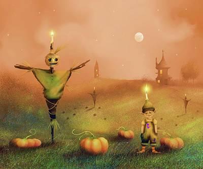 Painting - The Pumpkin Thief by Joe Gilronan