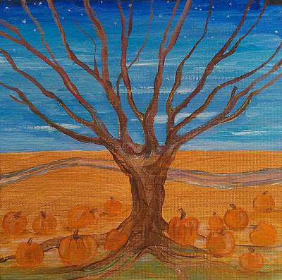 Painting - The Pumpkin Tree by Dawn Vagts