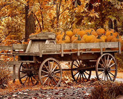 Photograph - The Pumpkin Wagon by TnBackroadsPhotos