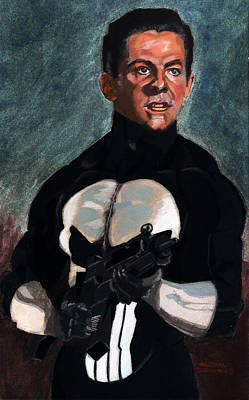 The Punisher In Pulp Original by Aljohn Gonzales