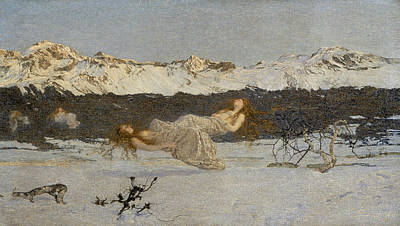 Divisionist Painting - The Punishment Of Lust  by Giovanni Segantini