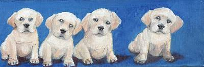The Pups 1 Art Print by Roger Wedegis