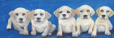 The Pups 2 Art Print by Roger Wedegis
