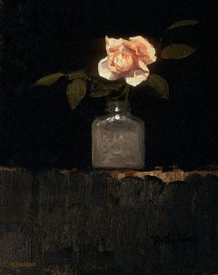 Painting - The Purloined Rose by Robert Holden