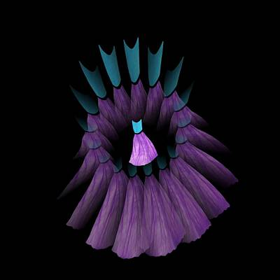The Purple And Teal Dream Circle Of Wise Women Art Print by Jacqueline Migell