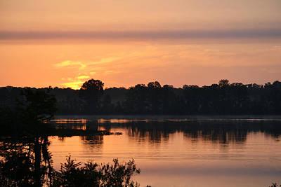 Photograph - The Purple Band - Sunrise Over Alligator Lake by rd Erickson