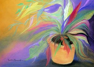 The Purple Bird Art Print by Maritza Bermudez