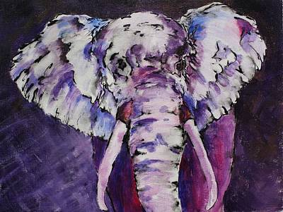 Painting - The Purple Bull by Tara Moorman