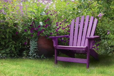 Photograph - The Purple Chair by Lori Deiter