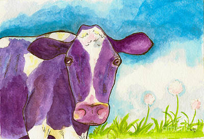 Painting - The Purple Cow by Whitney Morton