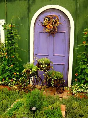 Photograph - The Purple Door by Michiale Schneider