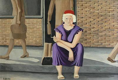 The Purple Dress Art Print by Georgette Backs