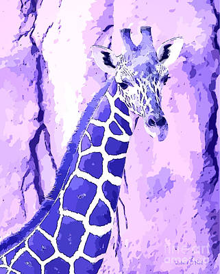 Photograph - The Purple Giraffe by Robert ONeil