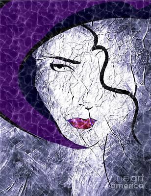 The Purple Hat Art Print